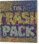 The Trash Pack Eyeball Mosaic Wood Print