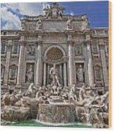 The Trevi Fountain Wood Print