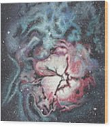 The Trifid Nebula Wood Print by Patsy Sharpe