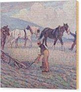 The Turn - Rice Plough Wood Print