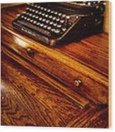 The Typewriter Wood Print by David Patterson