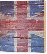The Union Jack Wood Print by Anna Villarreal Garbis