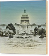 The United States Capital Building Wood Print
