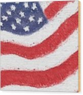 The United States Flag Wood Print