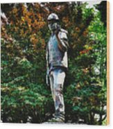 The Unknown Construction Worker In London Wood Print