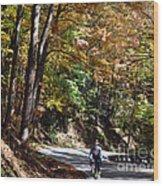 The Uphill Climb Wood Print
