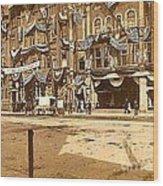 The Vaudeville Theatre In Shamokin Pa Around 1910 Wood Print