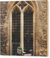 The Vaults Garden Cafe Bicycle In Oxford England Wood Print
