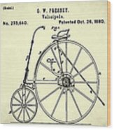 The Velocipede Patent 1880 Wood Print