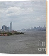 The View From The Statue Of Liberty Wood Print