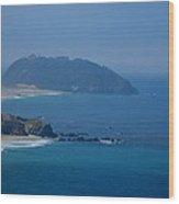 The View Of California Coast Wood Print