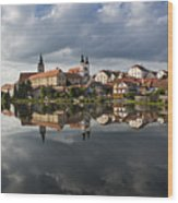 The Village From The Lake Wood Print by Maremagnum