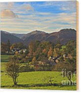 The Village Of Watermillock In Cumbria Uk Wood Print