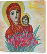 The Virgin And The Child Wood Print