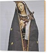 The Virgin Mary Statue In Church Wood Print