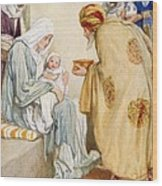 The Visit Of The Wise Men Wood Print