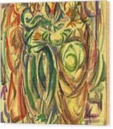 The Visitation Wood Print