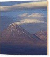 The Volcano Llicancabur. Republic Of Bolivia. Wood Print