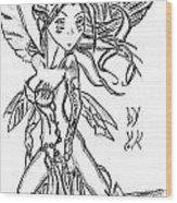 The Voluptuous Fairy  Wood Print
