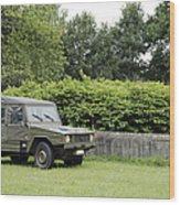 The Vw Iltis Jeep Used By The Belgian Wood Print by Luc De Jaeger