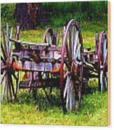 The Wagon At El Prado Wood Print