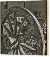 The Wagon Wheel Wood Print