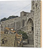 The Wall In Dubrovnik Wood Print