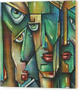 The Wall Wood Print by Michael Lang