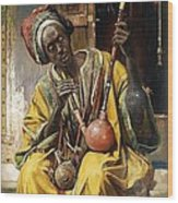 The Water - Pipe Smoker Wood Print by Pg Reproductions
