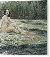 The Water Nixie Wood Print