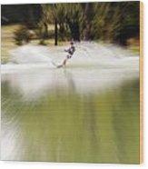 The Water Skier 1 Wood Print