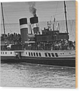 The Waverley Paddle Steamer Mono Wood Print