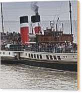 The Waverley Paddle Steamer Wood Print