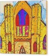 The Wedding Chapel Wood Print