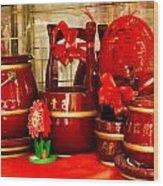 the Wedding Gifts Shop at the Qibao Ancient Town Wood Print