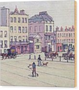 The Weigh House - Cumberland Market Wood Print by Robert Polhill Bevan