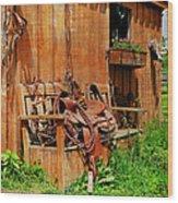 The Western Saddle Wood Print
