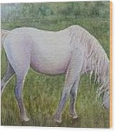 The White Horse Wood Print by Kerri Ligatich