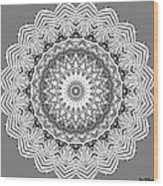 The White Mandala No. 2 Wood Print