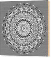 The White Mandala No. 5 Wood Print
