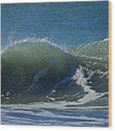 The Windblown Wave Wood Print
