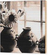 The Window Vases Wood Print