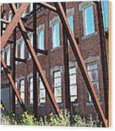 The Window Wall Wood Print by MJ Olsen