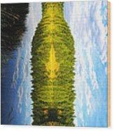 The Wine Bottle Wood Print