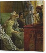 The Wine Shop Wood Print by Sir Lawrence Alma-Tadema