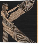 The Winged Isis Wood Print