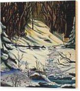 The Winter Trail Wood Print