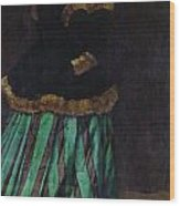The Woman In The Green Dress Wood Print