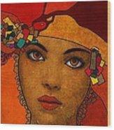 The Woman Ruby Wood Print