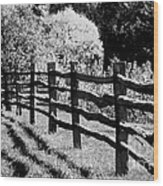 The Wooden Fence Wood Print